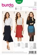 6834 Burda Pattern: Misses' Skirts in Three Styles
